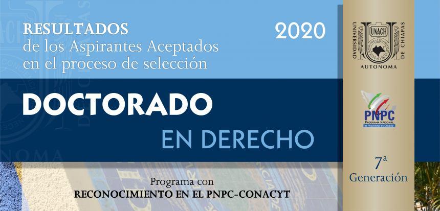 RESULTADOS DEL DOCTORADO EN DERECHO 2020